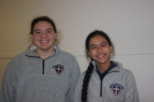 Sophomores Abby Marcin and Pallavi Kawatra were elected student body Vice President and President, respectively, in the school's first student council elections in September.  Photo by Alexandria Principe