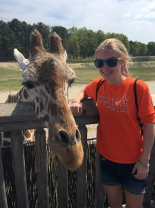Holly K. made a new friend during the Six Flags Physics Day field trip on May 8. Photo by Olivia DeNicola.