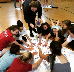 On the day before final assessments began, students met in their advisory groups to visually represent their advisory experience this year.