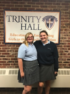 Juniors Chloe T. (left) and Abby Marcin (right) wer elected student body president and vice president, respectively, for the 2015-16 school year. Photo by Nicole LoRusso.