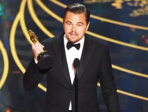 Leonardo DiCaprio claimed his first Oscar for Best Actor in a Leading Role at the 2016 Academy Awards. Photo courtesy of US Weekly.